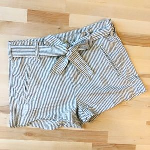 American Eagle 2 pinstriped tie shorts